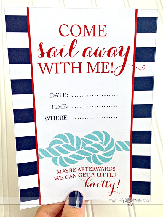 Sail Away With Me Date Night