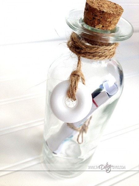 Message in a bottle for your sweetie