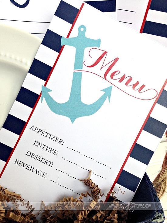 Nautical Themed Dinner