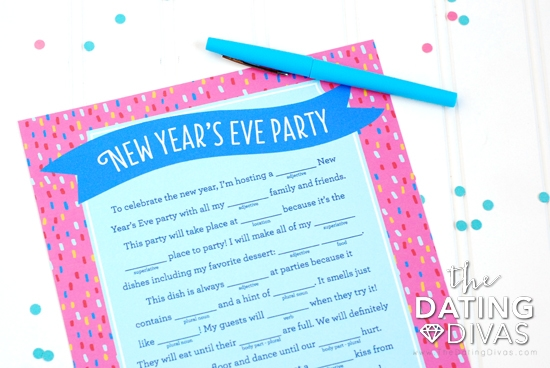 New Year's Eve Mad Libs Party Printable