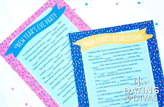 New Year's Eve Mad Libs Printables