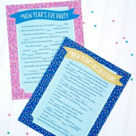New Years Mad Libs Free Printables
