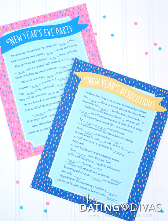 Free New Year's Eve Mad Libs Printable