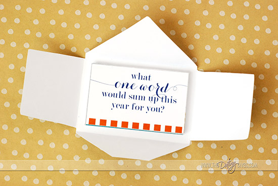 New Year's Reflection Game Envelope
