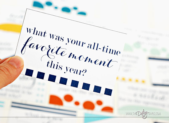 New Year's Reflection Game Favorite Moment Card