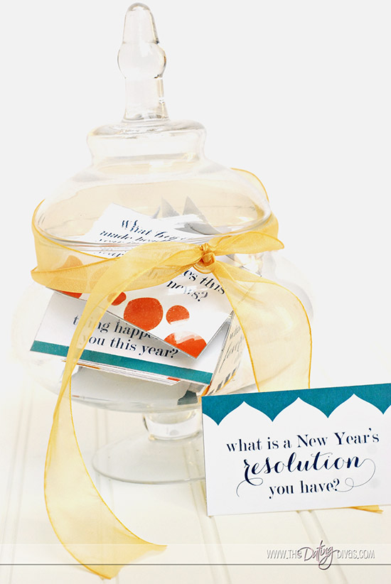 New Year's Reflection Game Question Jar