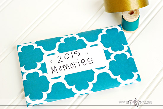 New Year's Reflection Game Time Capsule Envelope