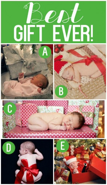 Newborn Christmas Photo Shoot Idea