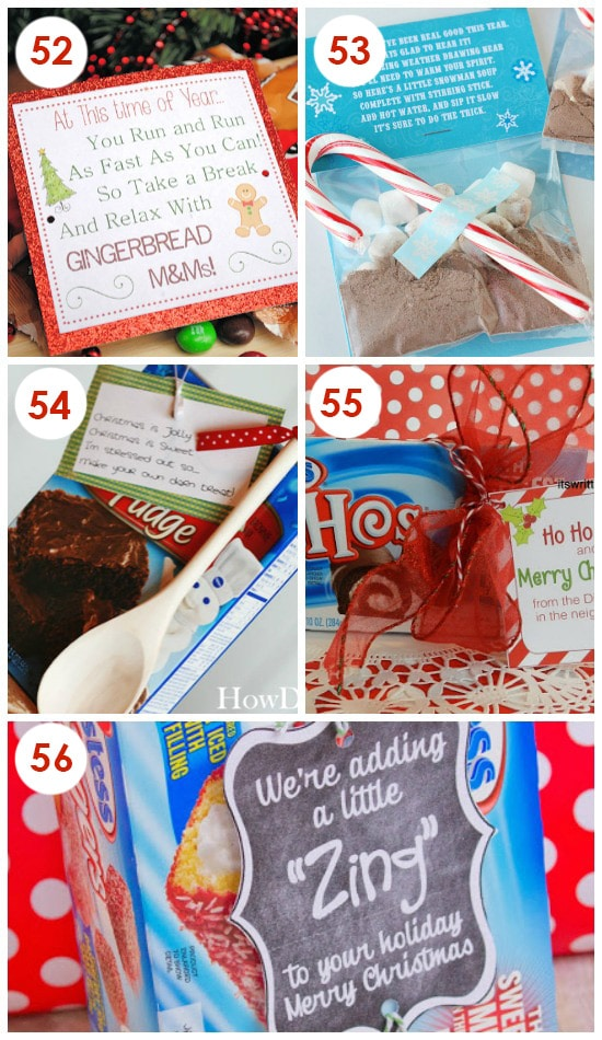 No Bake Christmas Neighbor Gifts With Free Printables