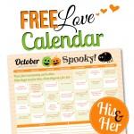 October 2015 Love Calendar