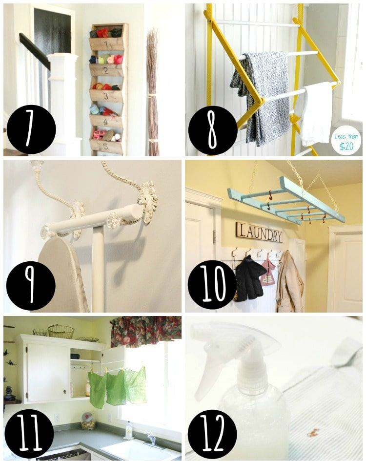 Laundry room organization tips!