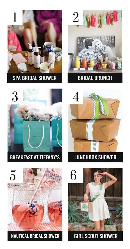creative bridal shower themes