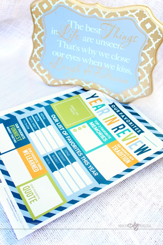 Our Favorites Year In Review Printables