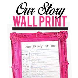 Frame Your Love Story- Free Template