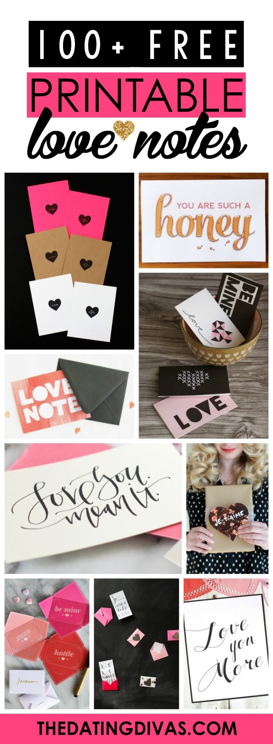 Over 100 Free Printable Love Notes for him