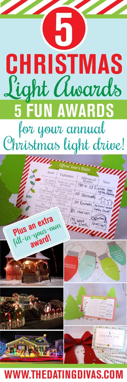 Christmas Light Date Night 5 Free Printable Awards