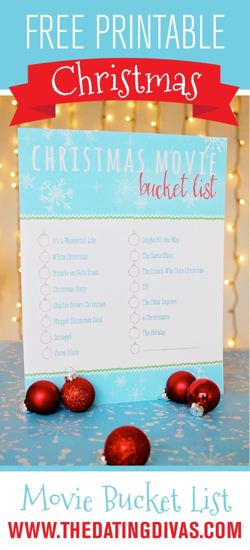 Free Printable Christmas Movie Bucket List