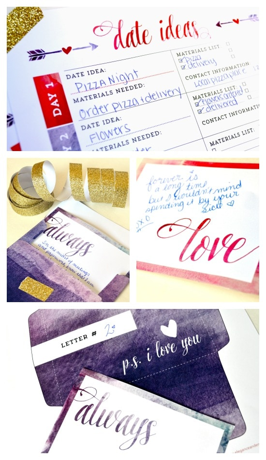 P.S. I Love You Project Printables