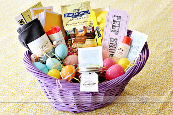 Intimate easter basket paige april adult basket basketlogo negle Images