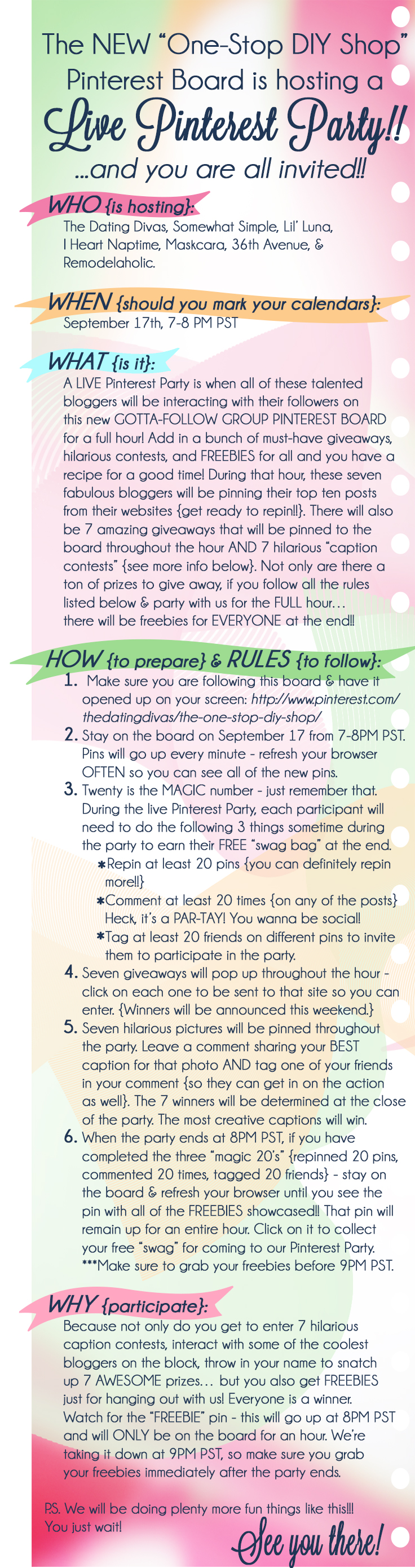 Party announcement and Rules