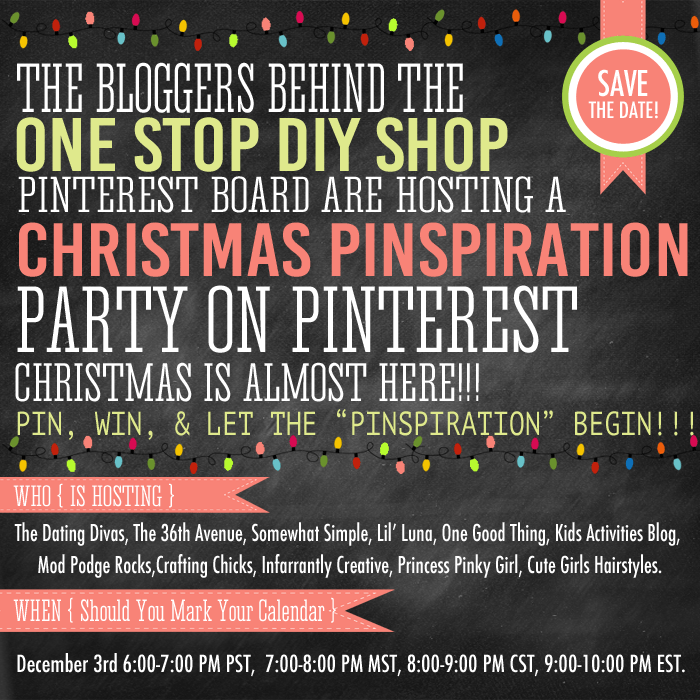 Save the Date for a LIVE Party on Pinterest!