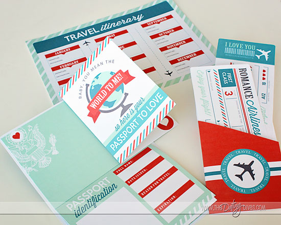 Passport to Love Kit- a romantic DIY gift