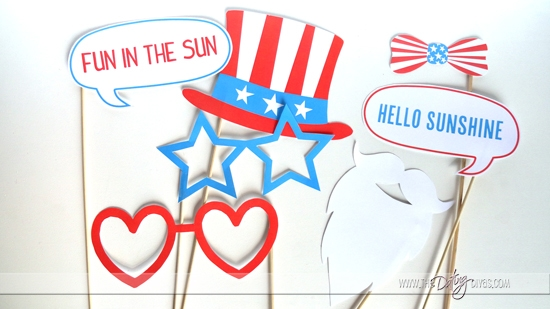 Patriotic Summer Photo Booth Props