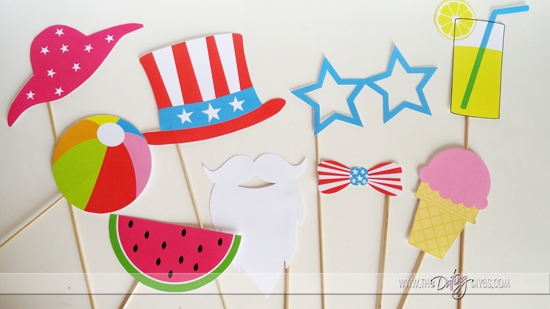 Patriotic and Summer Photo Props Printable