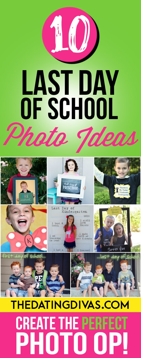 Great photo ideas for the end of school!