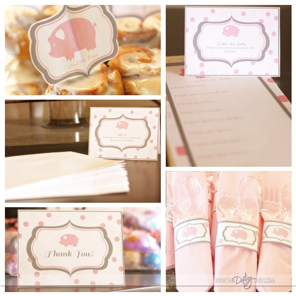 This Little Piggy Baby Shower. Great ideas and super cute ways to throw a pink baby shower!