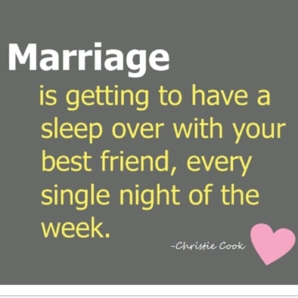 Pillow Talk Marriage Sleepover Quote