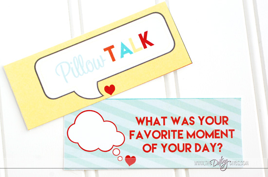 Pillow Talk Question Card