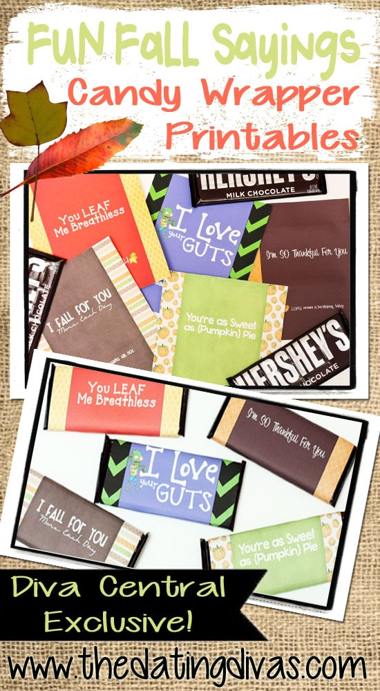 Fall Candy Wrapper Printables