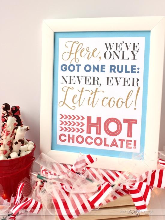 Hot Cocoa Bar Polar Express Themed Printables