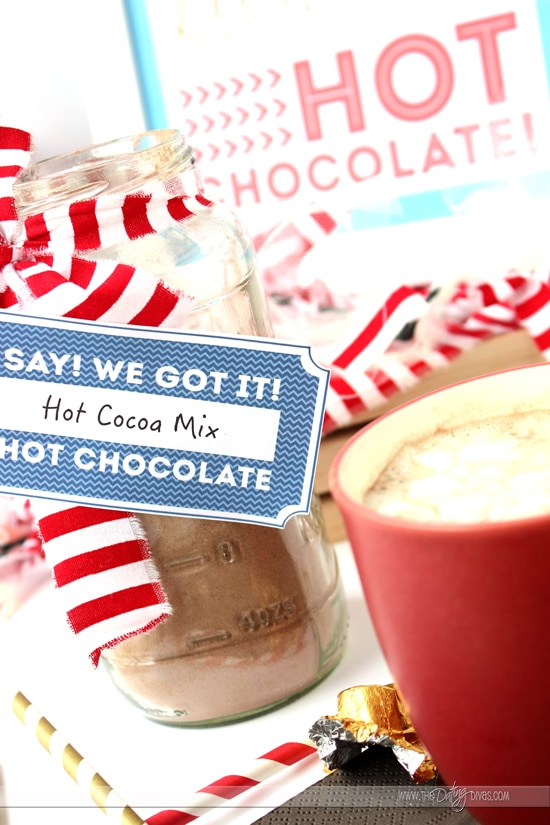 Polar Express Themed Hot Cocoa Bar Printables