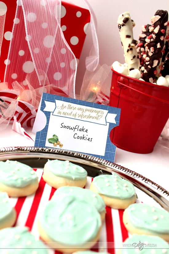 Hot Cocoa Bar Polar Express Themed Printables
