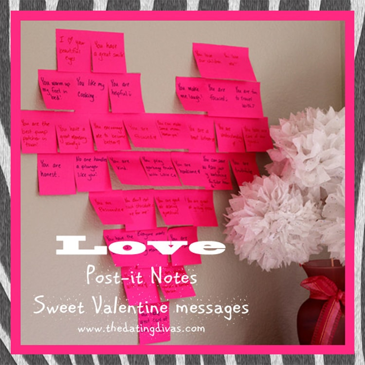 Post-It note printable Valentine's Day idea