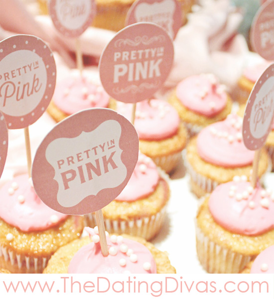 Pretty In Pink Baby Shower Cupcake Toppers
