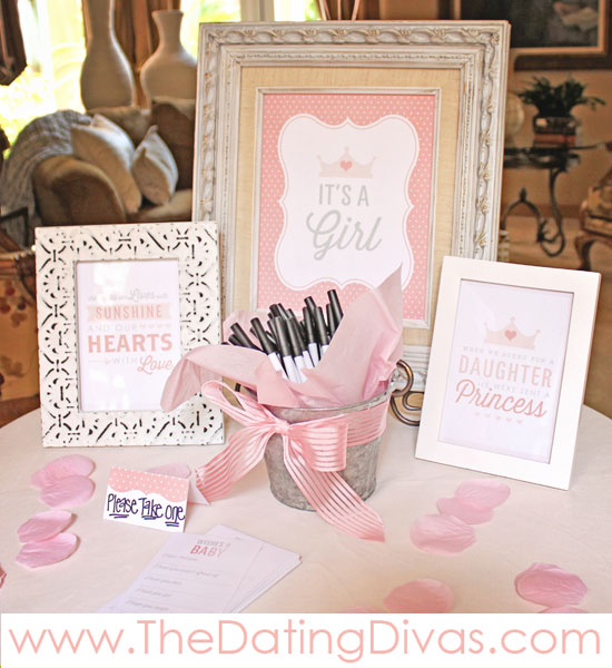 Pretty In Pink Baby Shower Entry Way - PRINTABLES