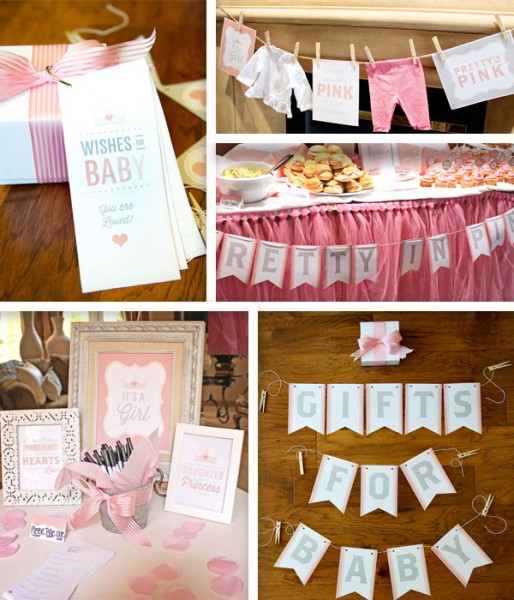 Pretty In Pink Baby Shower Printable Pack