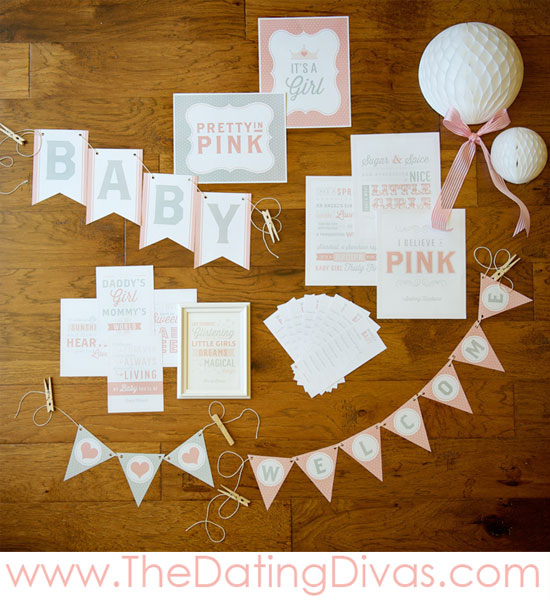 Pretty In Pink Baby Shower Theme