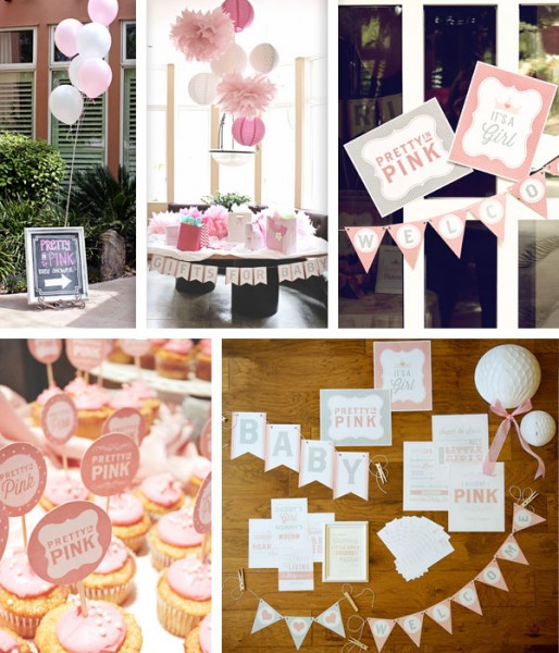 Pretty In Pink Baby Shower Themed Printable Pack