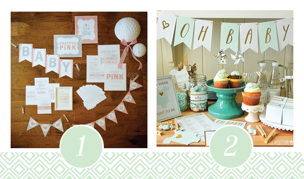 Pretty in Pink Baby Shower Printable Pack - Everything you'd need!!