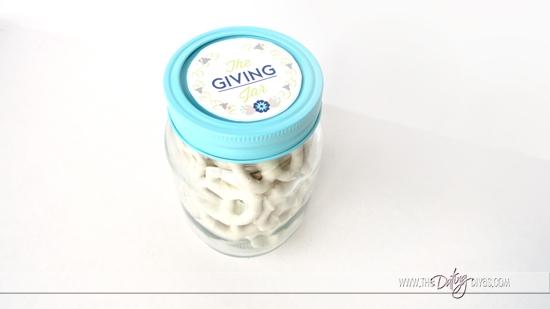 Pretzels in a Giving Jar