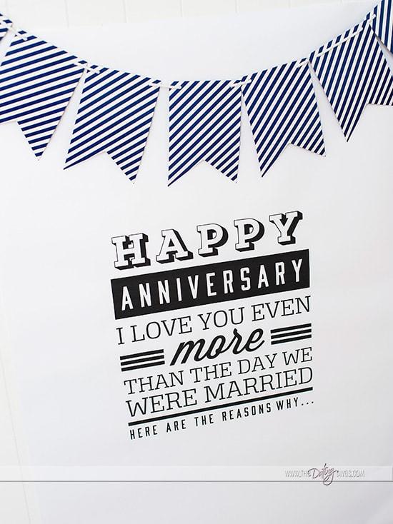 Printable Anniversary Poster