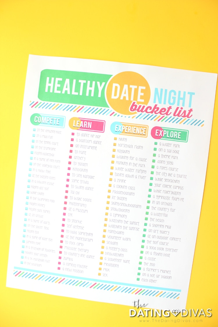 dating divas date bucket list Over 90 fun date ideas print out our fun date night bucket list and challenge your spouse to see how many dates you can check off.