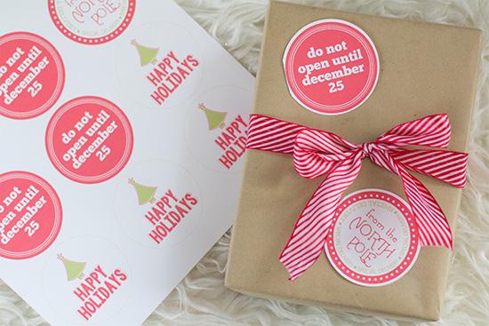Printable Christmas Sticker Sheet