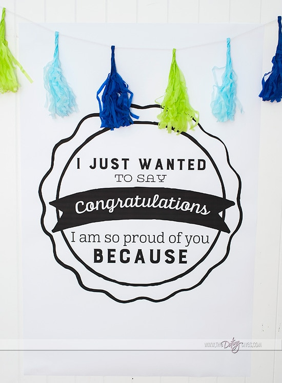 Printable Congratulations Poster