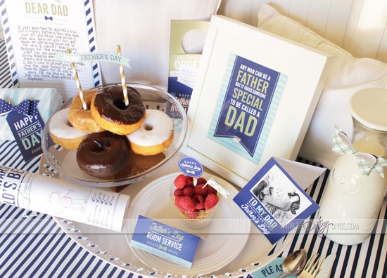Printable Father's Day Breakfast In Bed Card
