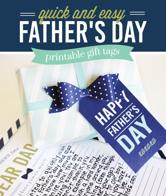 Father's Day Breakfast In Bed Idea with Printables